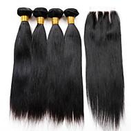 brasilialainen neitsyt hiukset sulkeminen 4 nippua sulkemisuhan hiuksista sulkemisuhan 7 a brasilian neitsyt hiukset suoraan