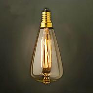 st48 e14 220v-240v 25w lyspære edison skrulokk liten gul retro lysekrone lyspære