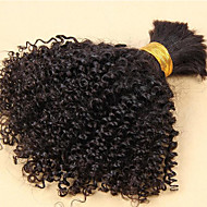 Luffy Hair Unprocessed Brazilian Kinky Curly Bulk Hair No Weave Natural Color Virgin Kinky Curl Bulk Extensions 3pcs/set