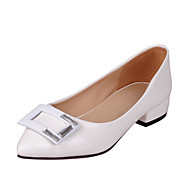 Women's Shoes Patent Leather Chunky Heel Heels / Pointed Toe Heels Dress / Casual Black / Pink / Red / White