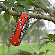 Fashion Stainless Steel Bottle Opener/Knives/Hammers Convenient 11 Method Multitools Camping Outdoor(Random Color)