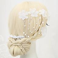 Dame / Blomsterpige Legering / Imitert Perle / Polyester Headpiece Bryllup / Spesiell Leilighet Hårkammer Bryllup / Spesiell Leilighet1