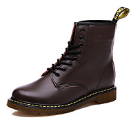 Women's Shoes  Flat Heel Round Toe Boots Casual Black / Brown / Burgundy