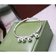 Women's Personalized Bracelet Sterling Silver Non Stone / Crystal