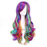 Lolita Ombre Wig Pelucas Pelo Natural Synthetic Wigs Heat Resistant Perruque Anime Cosplay Wigs Curly Peruca
