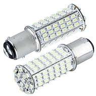 2 * car 1157 p21 / 5W staart rem stop lamp 3020smd wit 102 LED-licht 350lm 5000k - 6000k