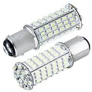 2 * מכונית 1,157 p21 / 5W הנורה תחנת בלם זנב 3020smd 102 לבנים 5000K 350lm האור הוביל - 6000K