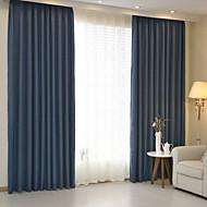 Két panel Ablak kezelése Modern , Tömör Hálószoba Vászon & pamut keverék Anyag függöny Drapes lakberendezési For Ablak