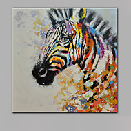 única mão puro abstrato moderno desenhar pronto para pendurar a pintura a óleo decorativa zebra