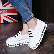 Women's Shoes Canvas Platform Round Toe Loafers Outdoor / Athletic / Dress / Casual Black / Blue / White