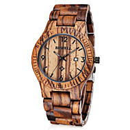 Men's Wooden Watches Bewell Maple Band Men Japan Quartz Watch - BROWN Wrist Watch Cool Watch Unique Watch