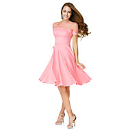 TS Couture® Cocktail Party Dress - Watermelon A-line Bateau Knee-length Jersey