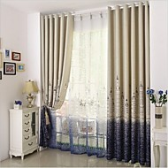 Two Panels European Palace Architecture Cartoon Style Children Room Sitting Room Bedroom Window Shade