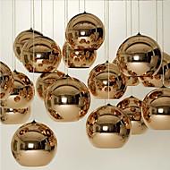 E27 220V15*15CM 5-10㎡Creative Simple Glass Nordic Retro Electroplating Ball Pendant Lamp Led Light