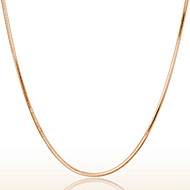 18k Rose Golden Chain Necklace (Length:46cm)