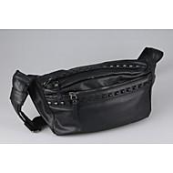 Men PU Casual / Outdoor Shoulder Bag - Black