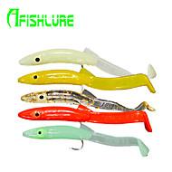 "Afishlure Soft Bait Artificial Soft Eels with Hooks 1.3g / 1/18oz. / 1/10 oz. Ounce , 65 mm / 2-5/8"" inch 16pcs/lot"