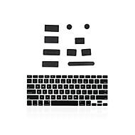 "silikon anti støv port plugger + matchende tastatur deksel for MacBook 13 ""luft / retina"