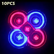 10-pakning morsen® hele spekteret 10w e27 / GU10 3rød + 2blå LED vokse lys for blomstrende planter hydroponikk system