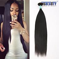 """1 pc / lot 12 """"-30"""" extensiones del pelo del pelo virginal brasileño rectas humanos 100% pelo remy brasileño teje sin procesar"""