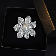Women's Alloy Brooch Silver