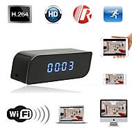 Wireless Mini Wifi IP 720P HD Clock Hidden Camera IR Security Network DVR