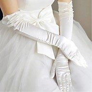 Opera Length Fingertips Glove Satin Bridal Gloves