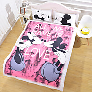 mickey mouse Love Bedding Set Cartoon Style Duvet Cover Gift for Kids Bed Sheet Home Bedclothes Twin Full Queen