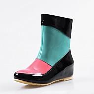 Women's / Girl's Spring / Summer / Winter Rain Boots Leatherette Outdoor / Casual Flat Heel Black / Yellow / Beige