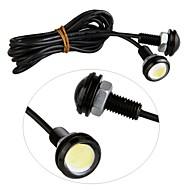 2db vezetett autó fény sasszem LED-es hátsó biztonsági fordított farok fehér lámpák lámpa 3W 12V