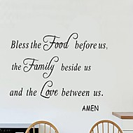 Sweet Lovely Wall Stickers Wall Decals Decorative, Creative English Words & Quotes Food Family Love PVC Wall Stickers