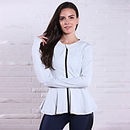 Corrida Blusas Mulheres Sem Mangas Respirável / Compressão Elastano / Tactel Ioga Rainha Yoga Wear Sports Elasticidade AltaBranco /
