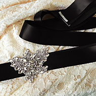 Satin Wedding / Party/ Evening / Dailywear Sash-Sequins / Beading / Appliques / Pearls / Rhinestone Women's 98 ½in(250cm)Sequins /