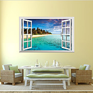 3D Wall Stickers Wall Decals Style The Mediterranean Waterproof Removable PVC Wall Stickers