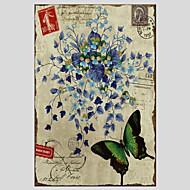Botánico / Moderno Impresión de la lona Un Panel Listo para colgar , Vertical
