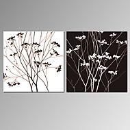 Asetelma / Leisure / Landscape / Patriotismi / Moderni / Romantiikka / Pop Art Canvas Tulosta 2 paneeli Valmis Hang , Neliö