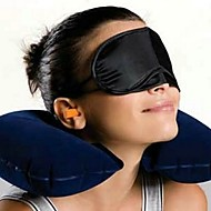 Creative Travel Rest (Neck Pillow + Eyeshade + Earplugs,Ramdon Color)