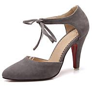 Women's Shoes Fleece Stiletto Heel Pointed Toe Heels Party & Evening / Dress Black / Gray