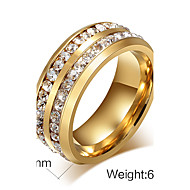 Woman`s/Man  Party  Work  Casual Titanium Steel Band Ring