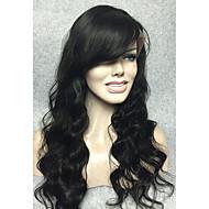 ata la peluca delantera del cordón suave brasileño peluca del frente del pelo natural del cuerpo ondulado negro sobre 14- 24inches envío