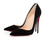 נעלי נשים - בלרינה\עקבים - פליז - בלרינה בייסיק - שחור - חתונה / קז'ואל / מסיבה וערב - עקב סטילטו