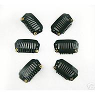 100pcs 28 milímetros 8-dentes clips de cabelo / peruca para acessórios de extensão do cabelo 5colors em stock