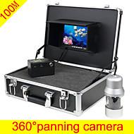 魚探水中カメラ100メートルソニーCCD 360回転可能な魚のカメラ水中ビデオ監視システムのfreeship
