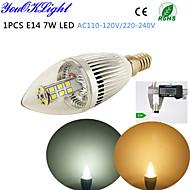 7W E14 נורות נר לד C35 28 SMD 2835 500 lm לבן חם / לבן קר דקורטיבי AC 220-240 / AC 110-130 V חלק 1