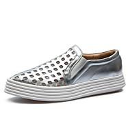 נעלי נשים-מוקסינים-סינטתי-קריפרס / נוחות-שחור / כסוף-משרד ועבודה / שמלה / קז'ואל / ספורט-עקב שטוח