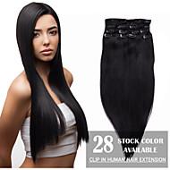alta calidad pinza de pelo virginal humano en la extensión del pelo para las mujeres