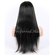 In Stock 10-28inch Silk Straight Brazilian Virgin Hair Natural Color Full Lace Wig