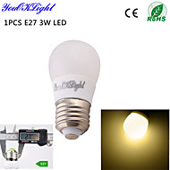 3W / 5W E26/E27 LED kulaté žárovky B 6 SMD 5730 260 lm Teplá bílá Ozdobné AC 220-240 / AC 110-130 V 1 ks