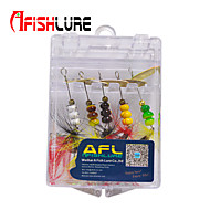 "Afishlure Metal Bait Jigs Spinner Baits Spoons Trolling Lure 2g 1/10oz 60mm 2-3/8""5 pcs/lot Sea Fishing/Fly Fishing"