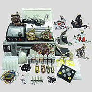 8 Machines BaseKey Tattoo Kit K804 Machine With Power Supply Grips Cups Needles(Ink not included)